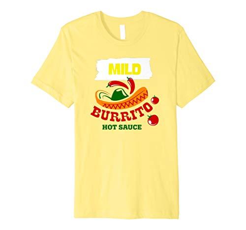 Funny Mild Burrito Hotsauce Packet Halloween Costume Tshirt