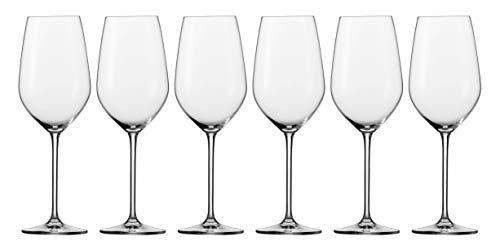 Schott Zwiesel Fortissimo 6-teiliges Bordeauxpokal Set Rotweinglas, Glas, transparent 31.7