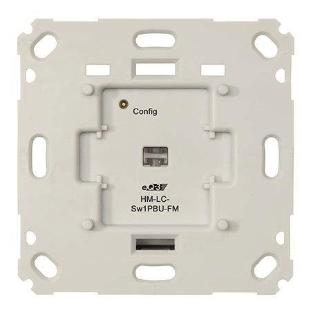 ELV Homematic Komplettbausatz Funk-Schaltaktor für Markenschalter, 1fach Unterputzmontage HM-LC-Sw1PBU-FM, für Smart Home/Hausautomation
