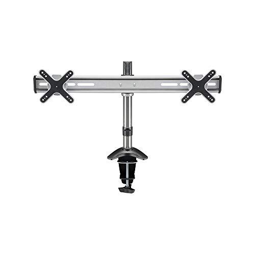 Goobay 69296 ScreenFlex Twin Tischhalter für 2 Monitor 58cm (23 Zoll) Silber - Flachbildschirme Für Stock-halterungen Tv