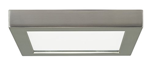 Satco Products S9333 Blink Flush Mount LED Fixture, 13.5W/7, Brushed Nickel by Satco -