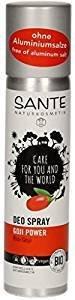 SANTE - Deo Spray Goji Power - Particulièrement Doux pour la Peau - Aux huiles essentielles Revitalisantes Pour une Sensation Durable de Fraîcheur Sans sels d'Aluminium - 100 ml