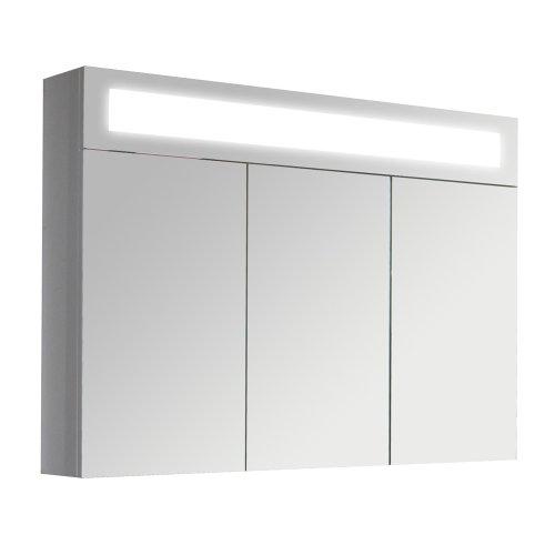 #3D Spiegelschrank Wandspiegel Badschrank inkl LED Beleuchtung 90cm#