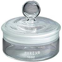 Corning Pyrex Cristal de borosilicato, baja forma con un peso de botella