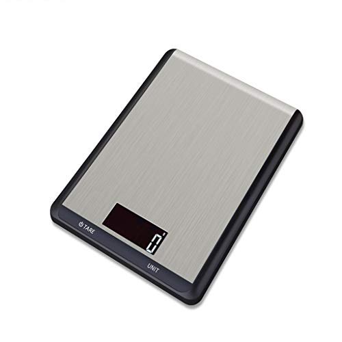 ODJOY-FAN Edelstahl Küchenwaage Elektronisch Waage 10 kg Digital Rahmen Küche Messen Werkzeuge Edelstahl Stehlen Elektronisch Gewicht(Schwarz,1 PC) (Küche Handtücher Kräuter)