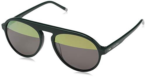 Calvin Klein Herren CK4350S 317 56 Sonnenbrille, Dark Green,