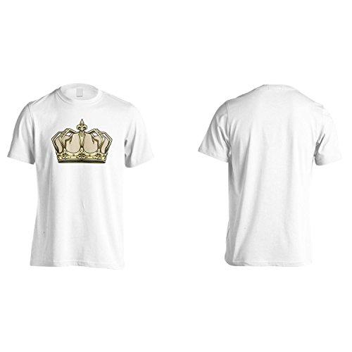 Corona Re Regina Arte Divertente Novità Uomo T-shirt a608m White