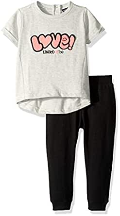 Limited Too Baby Girls French Terry Printed Love T-Shirt and Jogger Pants