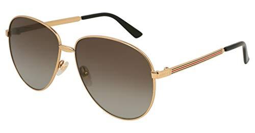 Imagen de gucci gg0138s 005 gafas de sol, dorado 5/brown , 61 unisex adulto