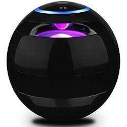 Haut-parleur Bluetooth Enceinte sans fil LED Bluetooth Portable Boîte à musique Mallalah Microphone intégré et support Carte Micro SD