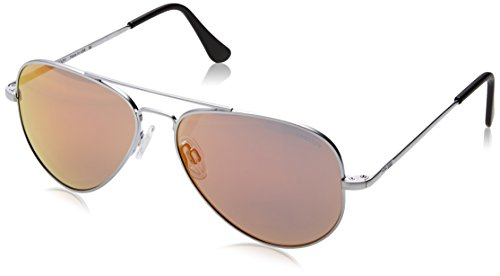 Randolph Engineering Concorde-Aviator-Sonnenbrille im Matt Chrom Orange Flash CR74469-PC 57 57 Orange Flash