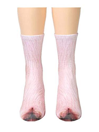 TEBAISE Damen Mädchen Baumwolle Socken Cartoon Süße Design mit Lustiger Tiere Malerei Füßlinge...