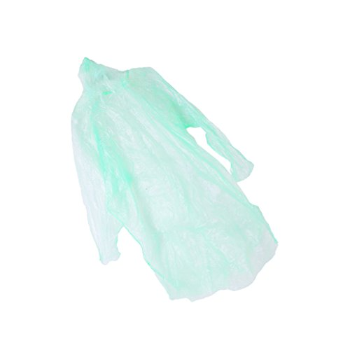 Generic 10Pcs Disposable Hooded Poncho Emergency Raincoat Adult Camping Hiking...