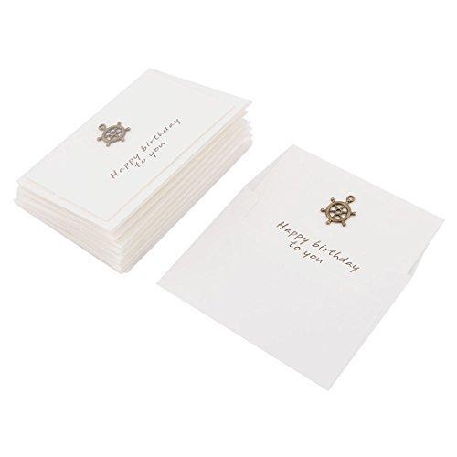 DealMux Papier Rudder Muster-Hochzeit Geburtstags-Einladung Geschenk Karten Umschläge 10 Sets