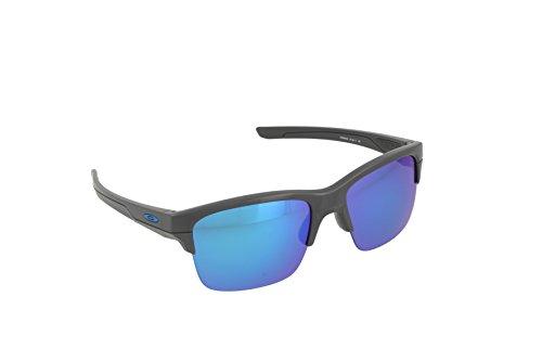 Oakley Herren Sonnenbrille Thinlink Grau (Dark Grey), 63