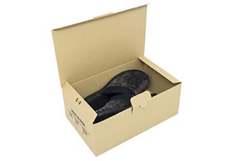 Pack de 10 Cajas de Cartón Automontables para Zapatos. Tamaño 28 x 16,5 x 10,5 cm. Zapatero Apilable...