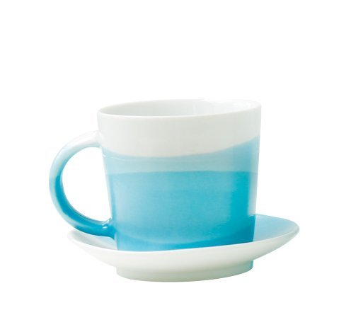 Ocean Blue Cup (Naktdh Creative handmade ceramic cup blue ocean Mediterranean coffee cup simple cup,b)