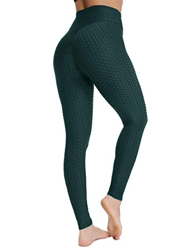 FITTOO Damen Sport Leggings Leggings Yoga Fitness Hose Lange Sporthose Stretch Workout Fitness Jogginghose,M,Türkis