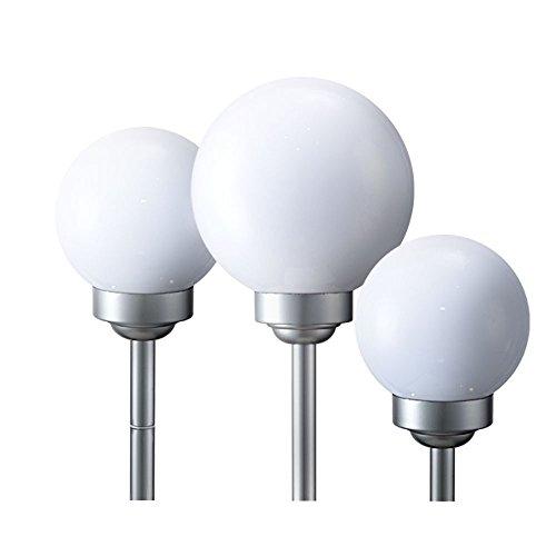 3er Set LED Solar Leuchte Kugeln IP44 Außen Lampe weiß Strahler Lichter 8hrs