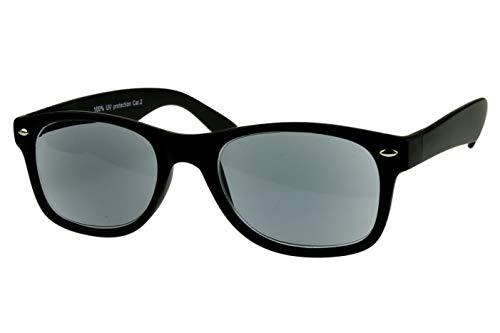 Lesesonnenbrille alle Dioptrien für Damen Herren schwarz glänzend getönt mit Etui und Federbügel leicht modern schmal Kunststoff 1.0 1.5 2.0 2.5 3.0, Dioptrien:Dioptrien 2.5