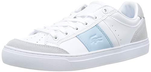 Lacoste Courtline 319 1 Us Cfa, Sneaker Donna, Bianco (White/Light Blue 1t3), 35.5 EU