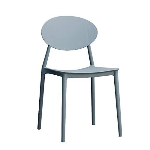 Hochstuhl Esstisch, Dining Shop Mall Kreative Lounge Stuhl Verhandlungsstuhl Farbe Kunststoff Stuhl Moderne Einfache Freizeit Stuhl (pp Kunststoff) (Color : Gray) -