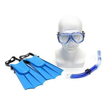 Vellex Kids Snorkel Diving Set - with Anti Fog Swimming Goggles, Webbed Foot & Scuba Snorkel, Children Swimming Pool Snorkeling Kit