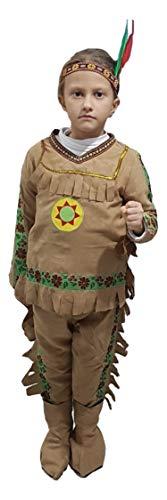 PICCOLI MONELLI Indianer-Kostüm für Kinder 5-6 Jahre Kleid Fasching Fasching Fasching