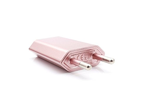Original iProtect Premium High Speed Energie adaptateur USB pour le quotidien ou voyage mini USB chargeur pour iPhone 6, iPhone 6 Plus, iPhone 7, iPhone 7 Plus, portable téléphone, iPhone 4 , iPhone 4G , iPhone 5 5s 5c, iPad, iPod etc. en or rose