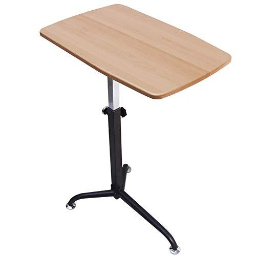 Eeayyygch Schreibtisch für Computer MDF-Platte Sofa für Notebook mit 8 Stufen, Liftable Home Schreibtisch Taglia unica Wood Color