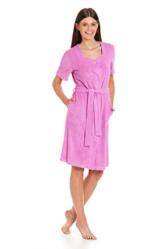Frauen leichter Bambusfaser Kleid zu Hause oder Strand/ mit Gürtel und Knöpfen / Bambusfaser / neue Frühjahr-Sommer 2017 Violett