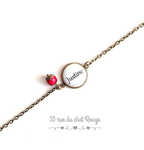 bracelet chaine fine, cabochon Personnalisé, prénom, date, événement