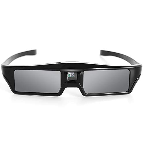 Tutyuity Leichte Active Shutter-Brille, wiederaufladbare 3D-Brille für DLP LINK-Projektor - Universal-projektor-3d-brille