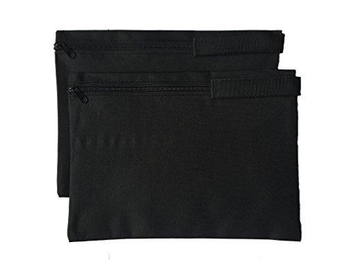 impecgear Dokument Reißverschluss Cash Taschen Poly Tuch Wert Pakete 2Taschen, Beutel, 31,8x 24,1cm Schwarz