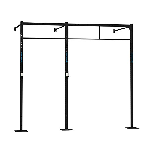 CAPITAL SPORTS Dominate W Base 293.150 Wall Mount Wandmontage Power Rack Cross-Training Functional Triple-Bar 293 x 270 x 150 cm (3 x Pull-Up Station 1 x Squat Station) Stahl schwarz