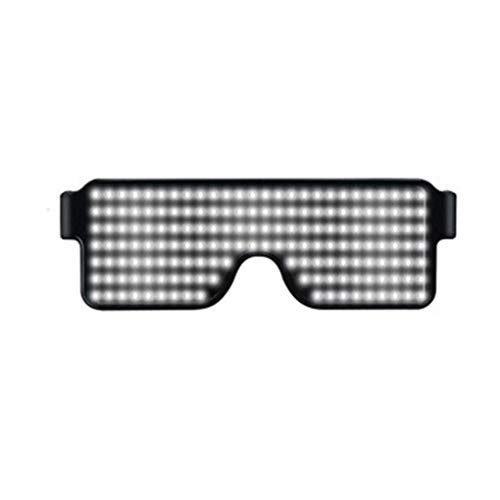 Republe Neon Flashing LED Light Up Shades Brille Glowing Party Supplies Beleuchtung helles Licht leuchtend Rave Night Festival Party Sonnenbrille (white)