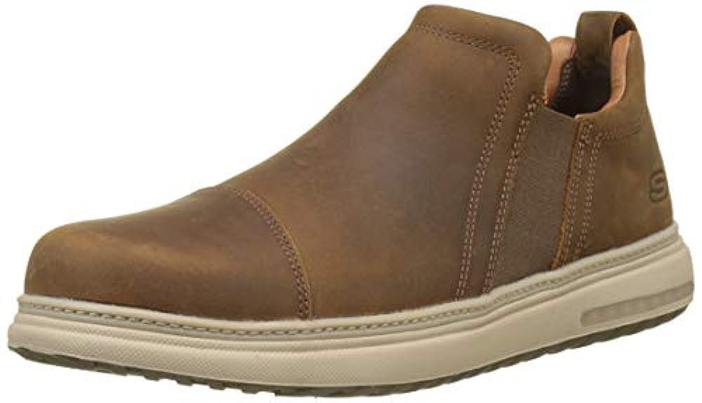 Купить мужские кроссовки Skechers ✓ Skechers Herren Folten - Orego Chelsea Boots Braun (Brown CDB) 44 EU ✓ amaazoon.ru