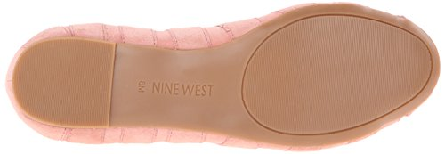Nine West Munchkin Suede Ballet Flat Pink Suede
