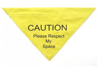 Ancol Respect My Space Warning Bandana for Dog, Small/Medium, Yellow by Ancol