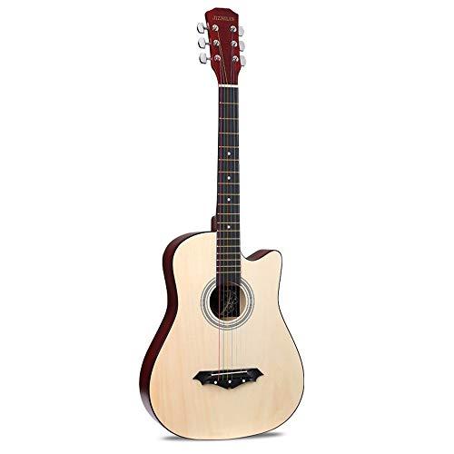 Boll-ATur Akustikgitarre Originalgröße 38-Zoll-Basswood Cutaway-Gitarre Anfänger Anfänger Studenten Kids Bundle Mit Gig Bag, Ständer, Stimmgerät, Plektren, Gurt , Saiten