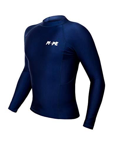 PI-PE Rash Guard Herren L/S Long Sleeve Blue L - S/s Herren Rash Guard