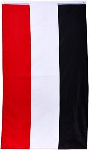 Flaggenking Fahne, Deutsches Kaiserreich Kaiserflagge, schwarz/weiß / rot, 150 x 90 x 1 cm, 16924