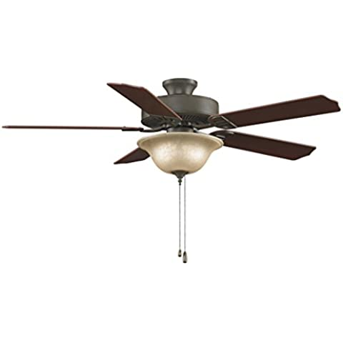 CASA BRUNO ventilador de techo Aire Décor, bronce antiguo, con luz