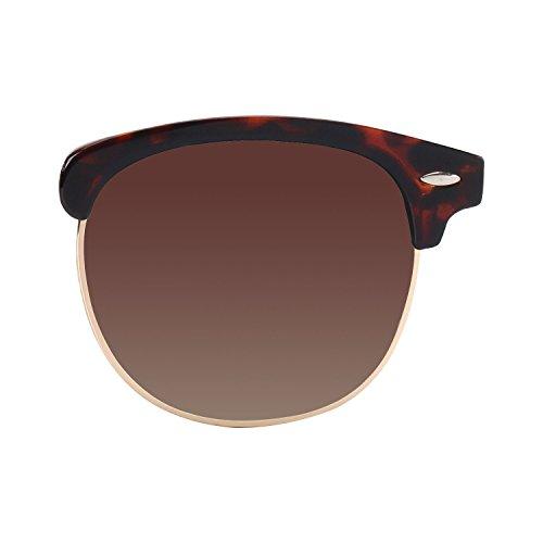 ... CGID MJ56 Lunettes de soleil Demi-cerclées écailles Demi Monture  Inspirées Premium avec Rivets Métalliques pour Femme Homme UV400 ... 439c0e6d34f7