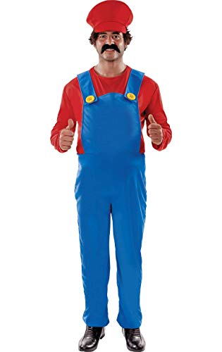 ORION COSTUMES Plus Size Super Plumber Costume (Action Hero Fancy Dress Kostüm)