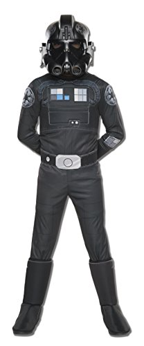 uxe Tie Fighter Pilot Kinderkostüm - 127-137cm (Seal Kostüm Kinder)
