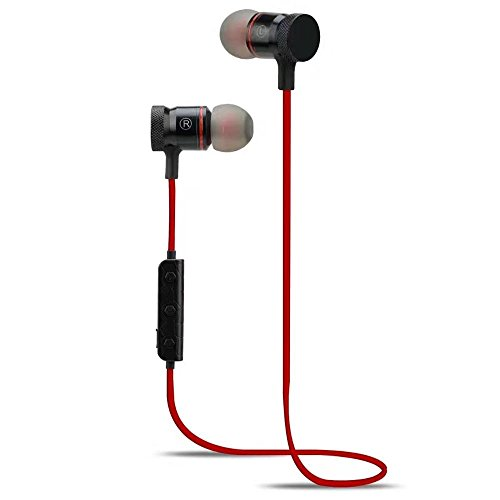 XIAOMI Redmi note 4 Compatible Magnetic Bluetooth Waterproof Attractive Headphone with Noise Isolation, Integrated Neckband, Thunder Beats Stereo Sound and Hands-free Mic and Controlling Buttons with Magnetic Earbuds