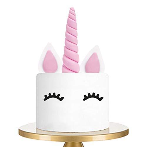 Cake Topper Rosa Einhorn Kuchendeko - 4