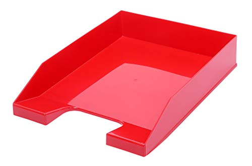 Metzger Mendle Letter Tray A4 Stackable Basic Rot 6 Stück