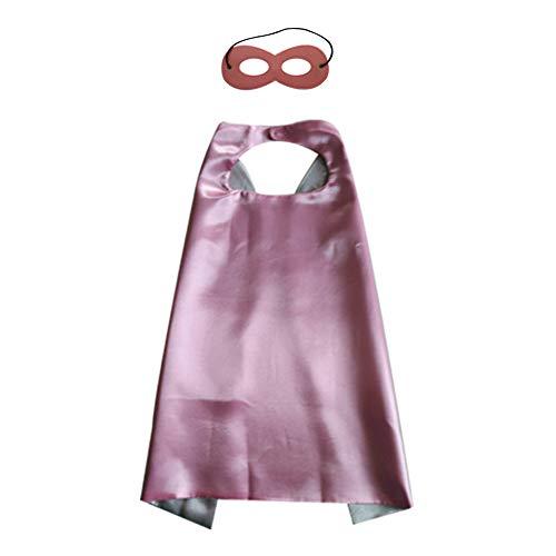 (Cupcinu Weihnachtsmantel Kindermantel Umweltfreundlicher Superman-Mantel beidseitig mit Augenmaske Size 70cm*70cm (Poudre + Argent))